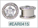 EAR0415, Star Gem  Ear Tunnels