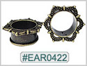EAR0422, Crown Burnished Gold Plated Tunnel Design_THUMBNAIL