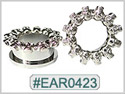 EAR0423, Skull Threaded Tunnel THUMBNAIL