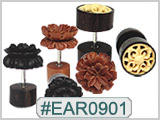 EAR0901 - Wooden Faux Plugs