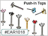 EAR1018 Gem Push-In Tops THUMBNAIL