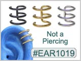 EAR1019, Not a Piercing, Triple Hoops