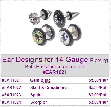 EAR1021 Ear Designs 14 Gauge Pairs MAIN