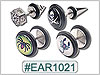 EAR1021 Ear Designs 14 Gauge Pairs