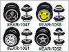 EAR1025 Illusion Ear Gauges, Logos