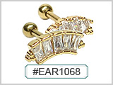 EAR1068 Gold Plated Studs THUMBNAIL