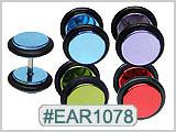 EAR1078 Color 14 Gauge Post, Ear Gauges Illusions