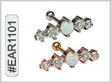 #EAR1101, 16G 4 Gems and Opal MAIN
