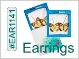 EAR1141, Look-real Butterfly Earrings THUMBNAIL