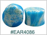 EAR4086, Light Blue Coral Ear Plugs