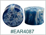 EAR4087, Dark Blue Coral Ear Plugs