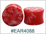 EAR4088, Red Coral Ear Plugs