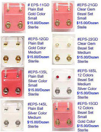 Ear Piercing Studs MAIN