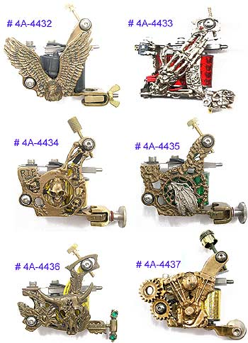 Ftw Brass Tattoo Machines1