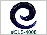 GLS4008 Dark Blue Glass Spiral THUMBNAIL