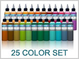 25 Color Tattoo Ink Set