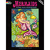 KMER1223, Mermaids Stained Glass Coloring Book THUMBNAIL