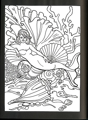 KMER1223, Mermaids Stained Glass Coloring Book