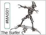 MAS01 The Surfer Metal Art Sculpture