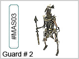 MAS03 Guard No. 3 Metal Art Sculpture THUMBNAIL