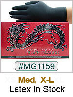 MG1159, Black Dragon Powder Free Latex  Gloves THUMBNAIL
