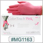 MG1163, Color Touch Pink Latex  Gloves