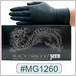 MG1260, Black Zero Nitrile Gloves