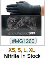 MG1260, Black Zero Nitrile Gloves THUMBNAIL
