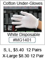 MG1401 Cotton Disposable Under-Gloves THUMBNAIL