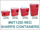 MT1250 Red Sharps Containers