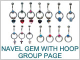 SV2300,SV2351,SV2355,SV2361 14G Navel Gem with Hoop THUMBNAIL