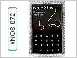 NOS072 Mini-Box Nose Studs Screw Back  Gems
