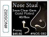 NOS082 2mm Gem 316L Nose Gem Screw THUMBNAIL