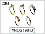 NOS198-B Hand Bendable Nose Rings