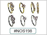 NOS198A Hand Bendable Nose Rings