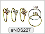 #NOS227 Nostril/Ear Rings with Gems THUMBNAIL