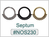 NOS230 Septum Multi-Ball Nose THUMBNAIL