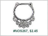 #NOS267 Nostril Clicker Stainless 316L
