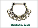 #NOS268, Decorative gold plated