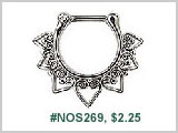 #NOS269,  SS Decorative Hearts THUMBNAIL