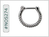 #NOS274 Septum Nose Jewelry: Rope THUMBNAIL