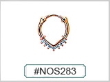 #NOS283 Nostril Clicker Gold Plated THUMBNAIL