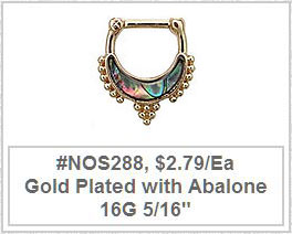 #NOS288 Abalone Gold Plated MAIN