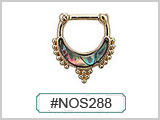 #NOS288 Abalone Gold Plated THUMBNAIL