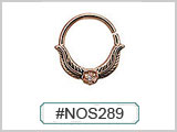 #NOS289 Gold Plated Leaves Gem