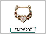 #NOS290 Gold Plated Heart Stone