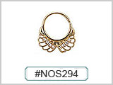 #NOS294 Gold Plated Filigree THUMBNAIL