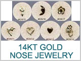 14 Kt Gold Design Nose Screws