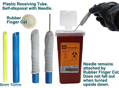 NRT21 Plastic Needle Receiving Tubes