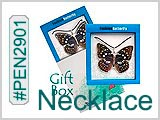 PEN2901, Look-real Butterfly Necklace THUMBNAIL